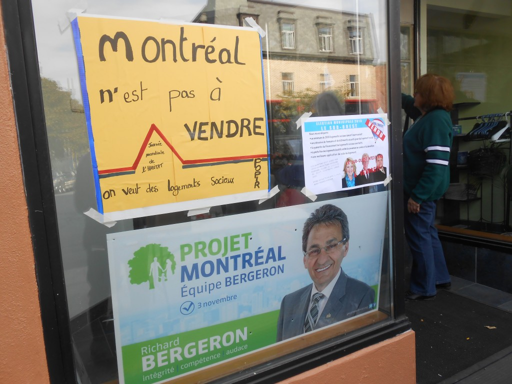 Au bureau de campagne de Projet Montréal